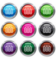 traffic lights set 9 collection vector image vector image