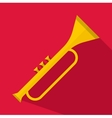 Trumpet icon flat style vector image vector image