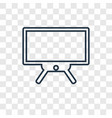 tv concept linear icon isolated on transparent vector image