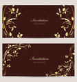 vintage invitation cards for your design vector image