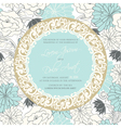 vintage wedding invitation with round vintage vector image vector image