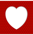 White Heart Valentine vector image