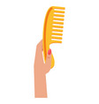 woman hand with comb vector image