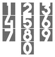 a set numbers in form a square thin vector image