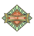abstract colored retro badge label vector image vector image