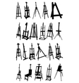 Artist easels vector image vector image