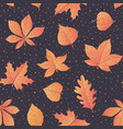 autumn pattern with oak maple beech leaves vector image vector image