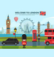 background with london urban vector image