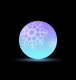 ball with snowflakes pattern bright colorful vector image