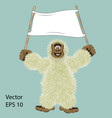 big foot vector image vector image