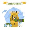 Birdwatching Tourism Concept vector image vector image