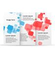 brochure template trifold flyer design mockup vector image vector image