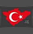 central anatolia turkey map vector image
