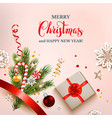 christmas holiday light background vector image