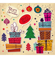 Christmas present stack vector image