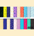 collection colorful seamless vibrant patterns vector image