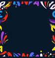 colorful frame for any content design template vector image