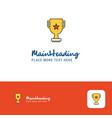 creative trophy logo design flat color logo place vector image