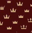 crown king logo design vector image vector image
