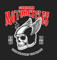 custom motorcycles poster template with skull in vector image vector image