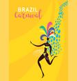 dancing women silhouette vector image vector image