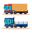 delivery service trucks vehicles vector image vector image