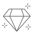 diamond thin line icon jewellery and accessory vector image vector image