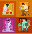 doctors are working in laboratory science concept vector image vector image