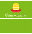 easter egg with ribbon banner vector image vector image