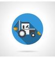 Farming tractor flat color design icon vector image vector image