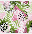 floral and geometric background with triangles vector image