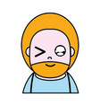 funny man with beard and hairstyle to avatar vector image vector image