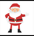 funny santa claus with thumbs up vector image