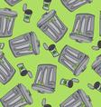 garbage pattern vector image vector image