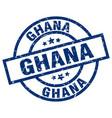 ghana blue round grunge stamp vector image vector image