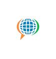 global talk logo vector image vector image