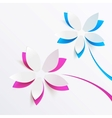 greeting card background with paper flowers vector image vector image