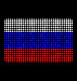 halftone russian filled rectangle icon vector image vector image