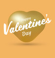 happy valentines day heart balloon vector image