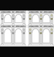 iconostasis architectural object vector image vector image