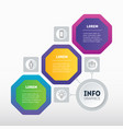 infographic technology or education process vector image vector image