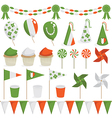 irish decorations vector image vector image