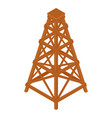isometric wooden wood tower isolated on white vector image vector image