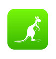 kangaroo icon digital green vector image