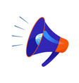 megaphone loud speaker cartoon icon a vector image
