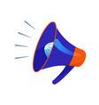megaphone loud speaker cartoon icon vector image