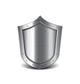 metal shield isolated vector image vector image