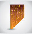 microchip background microprocessor vector image