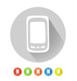 Mobile phone symbol vector image