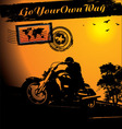 motorcycle rider background vector image vector image
